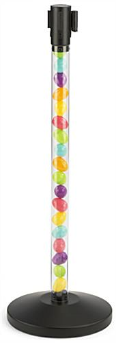 Fillable Clear Stanchion with Black Belt for The Easter Bunny Line