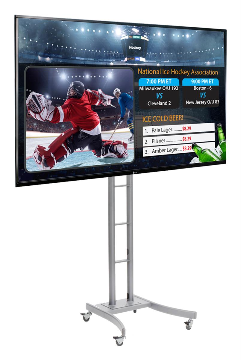Exhibition Stand Rates : Quot digital signage with wheeled stand adjustable height