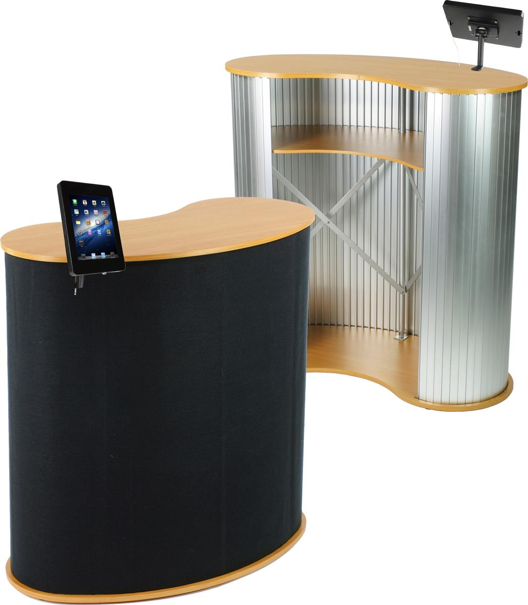 Portable Trade Show Flooring : Portable trade show counter with ipad display exhibit booth