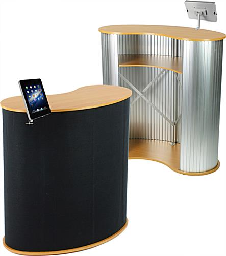 Trade Show Stand with iPad Mount in Silver