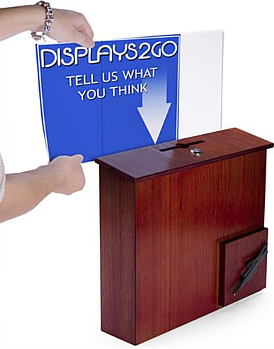 Comment Box with Sign Holder with Side Insert