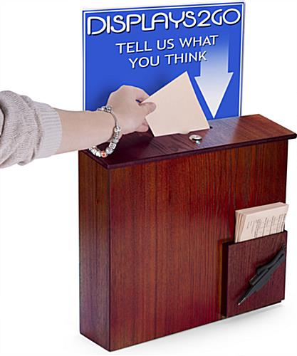 Comment Box with Sign Holder for Offices