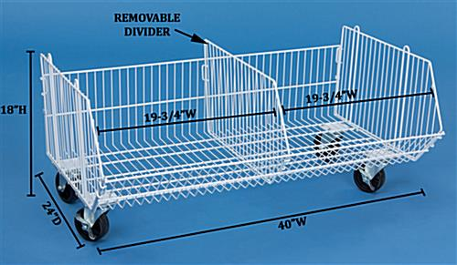 These Wire Baskets For Storage Have 4 Inch Wheels These