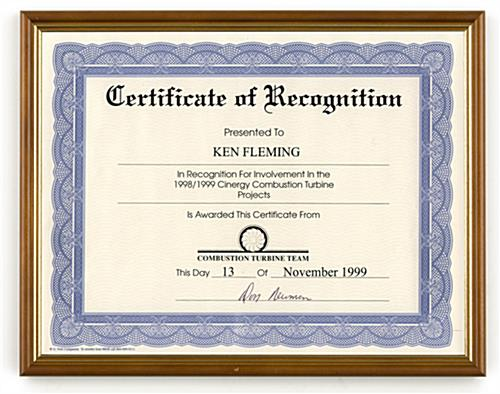 certificate frames display 8 12 x 11 documents - Document Frame