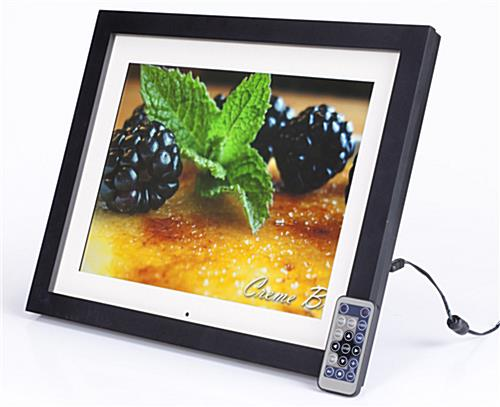 "This 15"" Digital Photo Frame Plays Video, Slide Shows and"