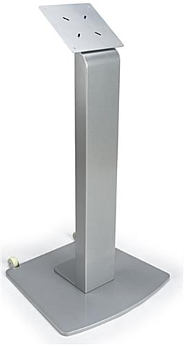 Lobby Monitor Floor Stand Wheeled Silver Touchscreen Display