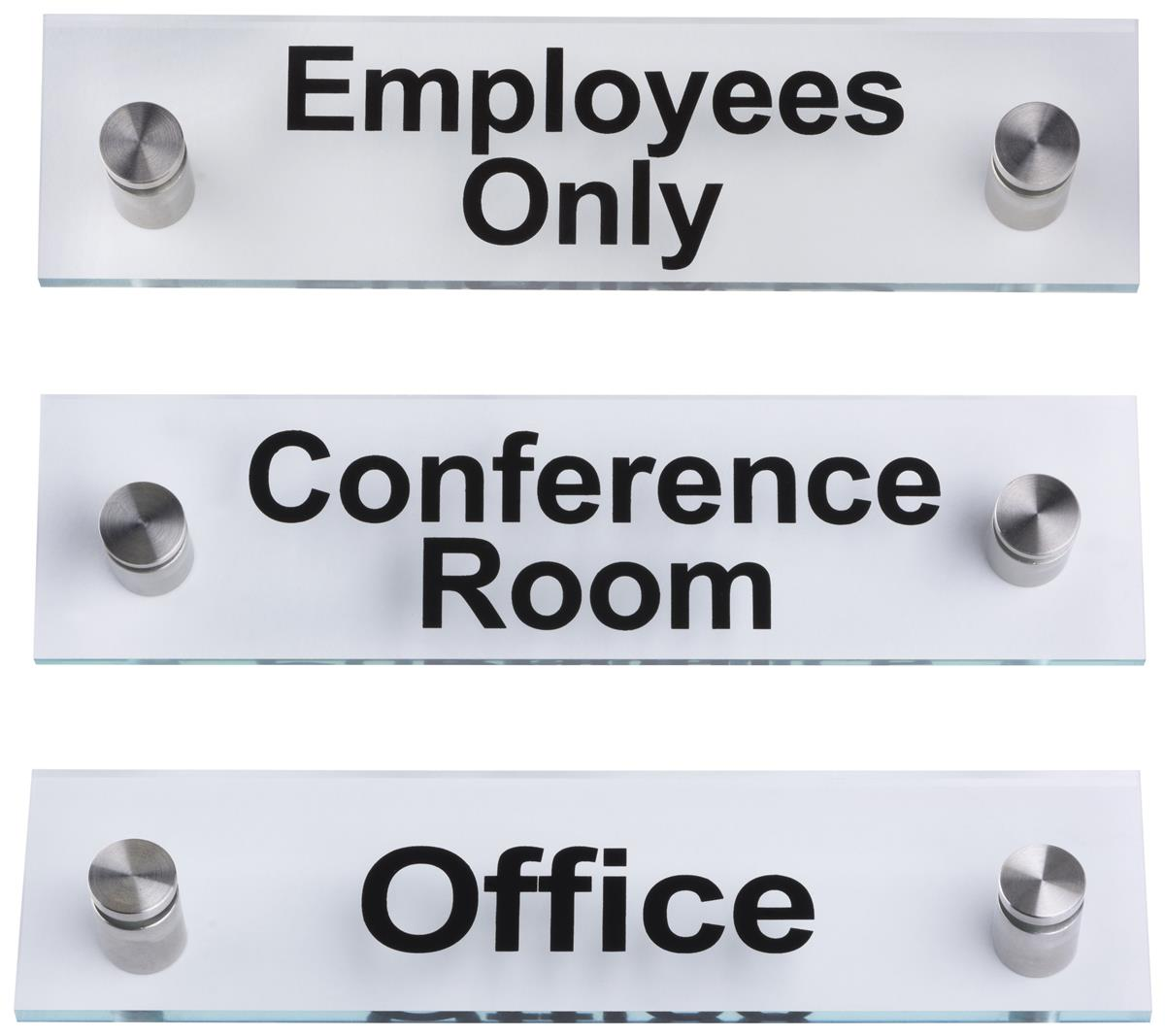 Pre Printed Acrylic Signs For Office Signage Amp Wall Hardware