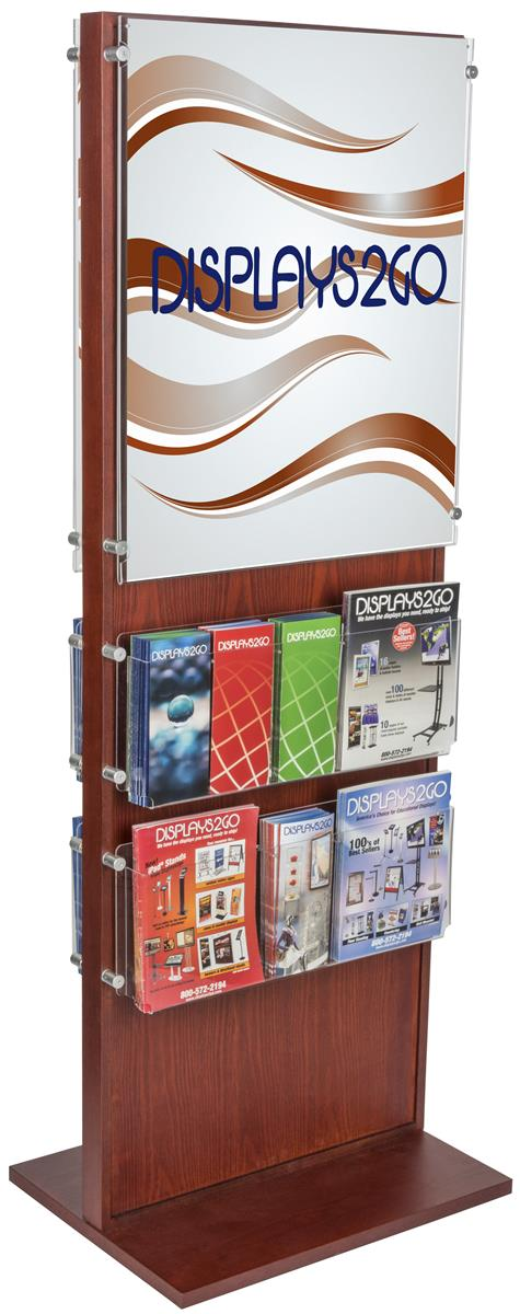 Sign Stands For Posters And Pamphlets Wooden Display Racks