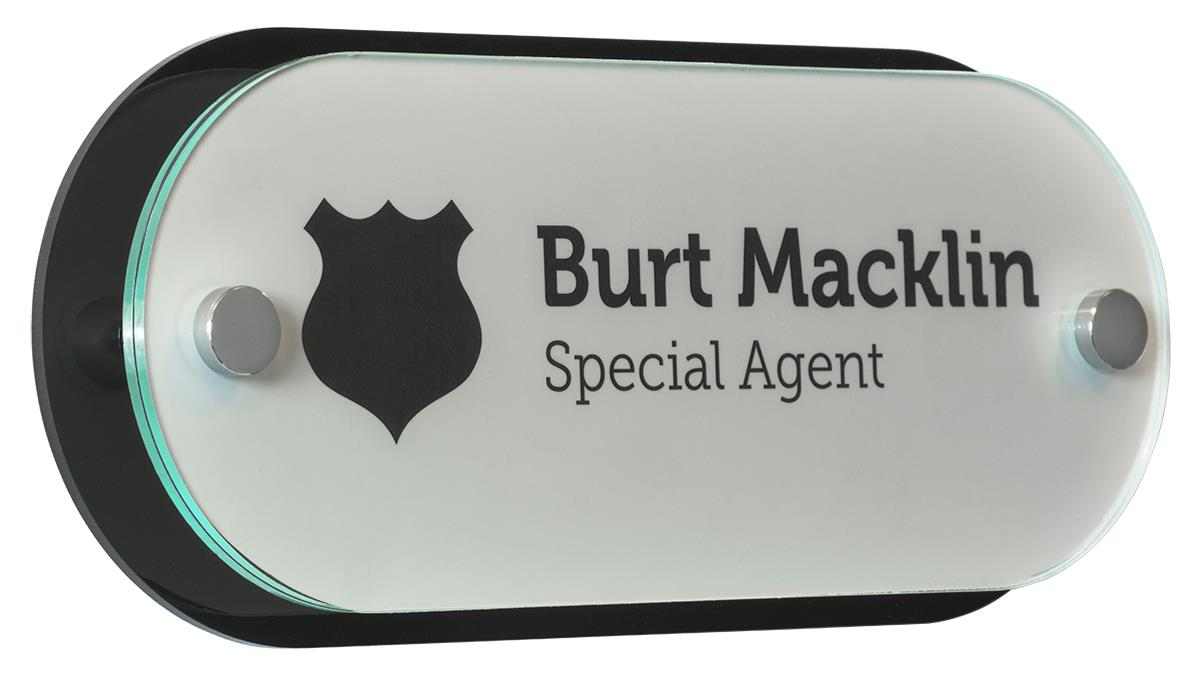 Diy Office Door Name Plates 10 X 4 Oval W Black Backer