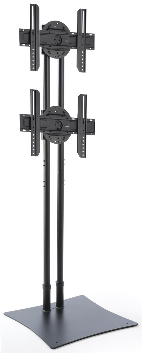 Freestanding 2 Screen Mounting Pole Portrait Landscape