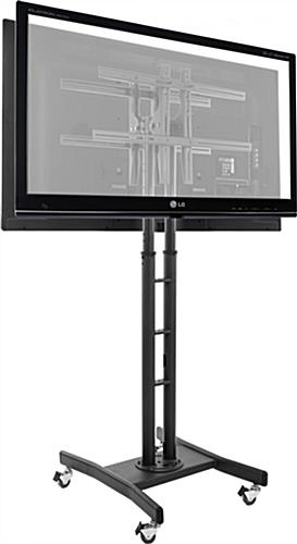 Double Sided Television Stands Tilting Frame
