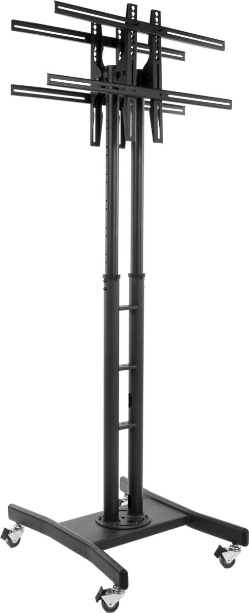 adjustable height cart dual tv stand rolling cart for flat screen televisions