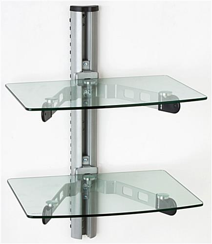 Floating Glass Shelf Installation