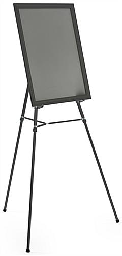"Black Easel Stand with 22"" x 28"" Snap Frame with Detachable Bracket"