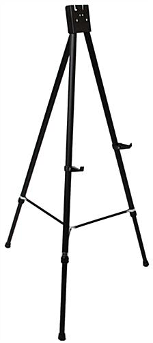 "Black Easel Stand with 22"" x 28"" Snap Frame, Powder Coated"