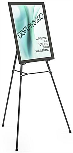"Black Easel Stand with 22"" x 28"" Snap Frame with Adjustable Legs"