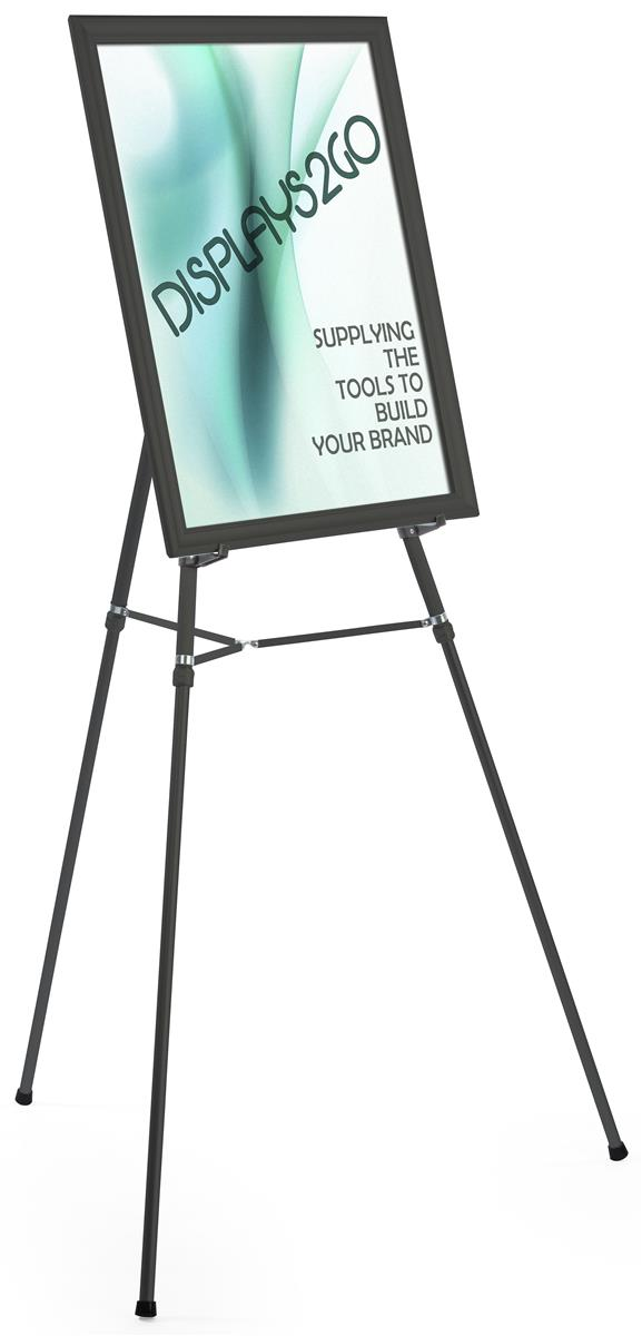 Black Easel Stand With 22 X 28 Snap Frame