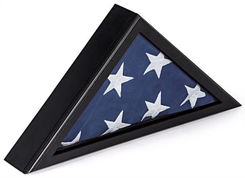 Burial Flag Case Magnetic Front Door With Clear Glass