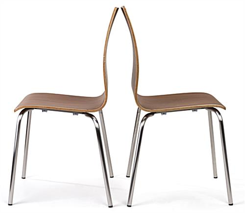 ... Bistro Style Lunchroom Table And Chairs Includes Bent Wood Seating ...