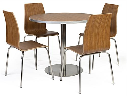 Bistro Style Lunchroom Table And Chairs With 4 Included Seats ...