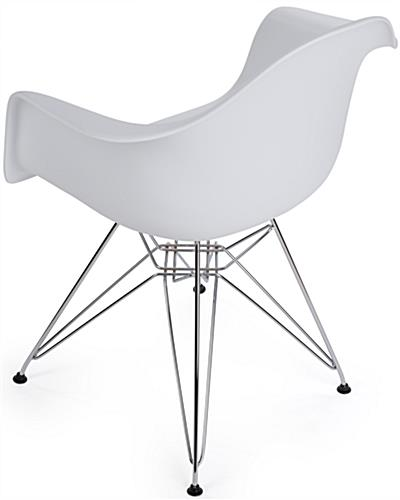 Contemporary Wire Base Eiffel Chair with Back Rest