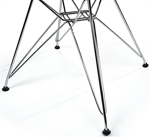 Contemporary Wire Base Eiffel Chair with Steel Legs