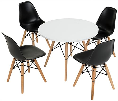 Iconic Child Size Modern Seating Set ...  sc 1 st  Displays2go & Child Size Modern Seating Set | 4 Black Plastic Chairs