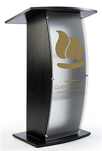 Black Lectern with Personalized Graphic - Single Color Imprint