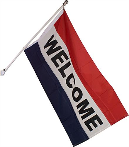Welcome Flag: Includes Flag, Pole & Mounting Bracket