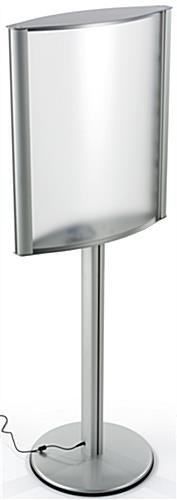 Brushed Silver 22 x 28 Curved Lightbox Stand