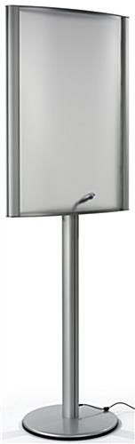 Aluminum 24 x 36 Curved LED Poster Stand