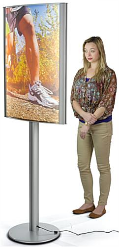 24 x 36 Curved LED Poster Stand with Steel Base