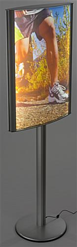 Edge-Lit 24 x 36 Curved LED Poster Stand