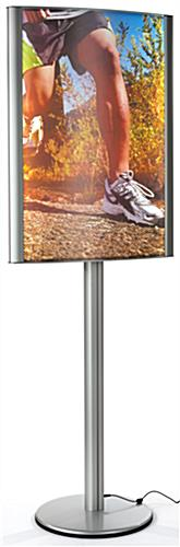 Double Sided 24 x 36 Curved LED Poster Stand