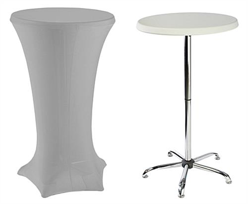 Tall Cocktail Tables With Silver Covers Sold As A Kit ...