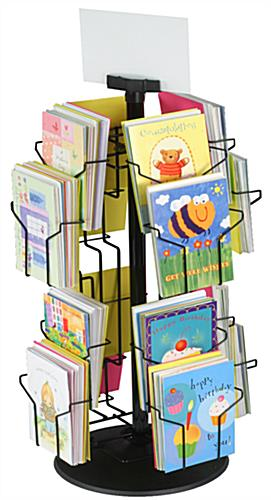 These greeting card stands have 16 pockets these wire rack shelving greeting card stand m4hsunfo