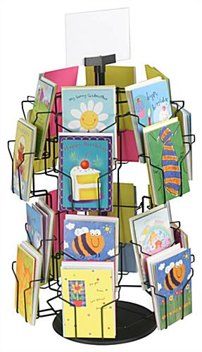 Wire greeting card stand revolving countertop display greeting card stand m4hsunfo