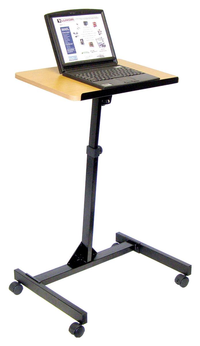 Portable Laptop Computer Stand Sit Stand Tilting Podium Top