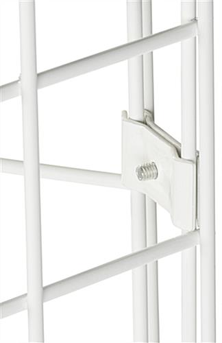 "White Gridwall Connector, 2"" Wide"