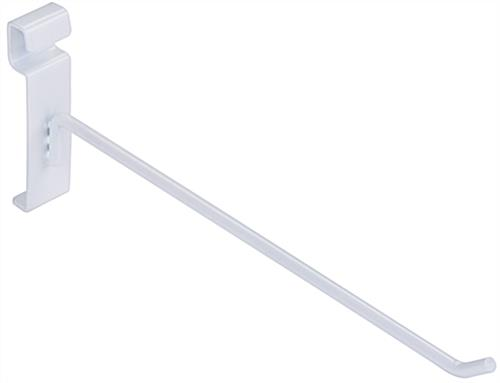 "10"" White Gridwall Hook for Wall Organization"