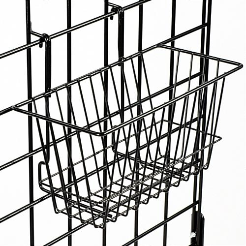 this gridwall basket can hold bulk items  easy