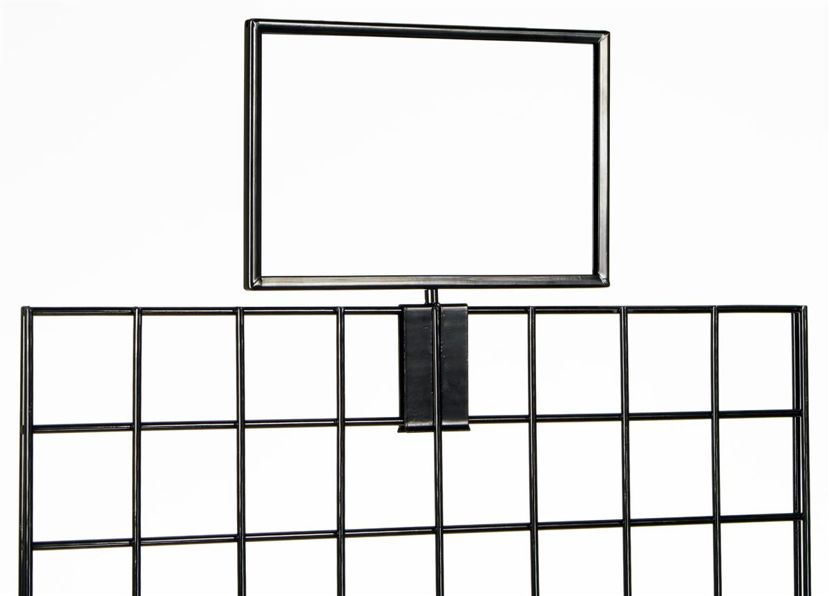 This Gridwall Sign Holder Clips To The Top Of Wire Display