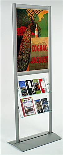 "Literature Dispenser with 24"" x 36"" Poster Frame"