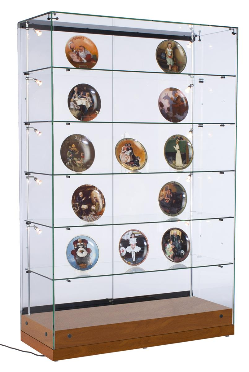 Commercial Curio Cabinet With Key Lock 5 Adjustable Shelves