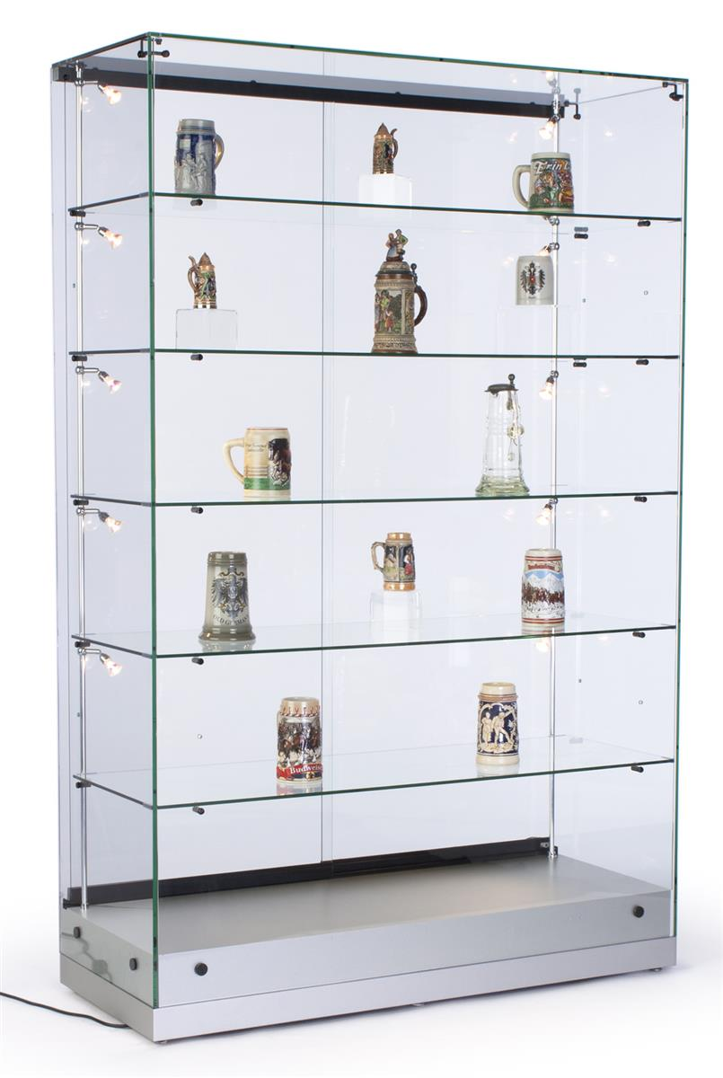 Tempered Glass Display Cabinets Frameless Design