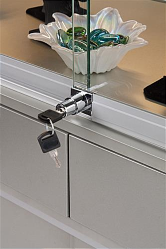 Jewelry Display Counters Tempered Glass W Locking Base