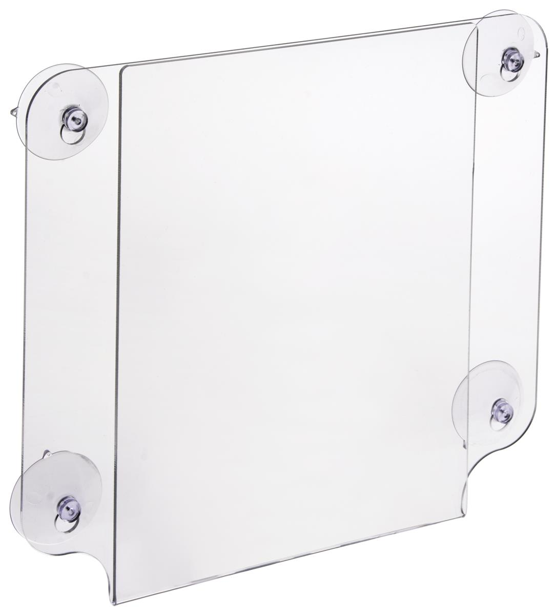 Window Sign Holder Acrylic Frame With Suction Cups