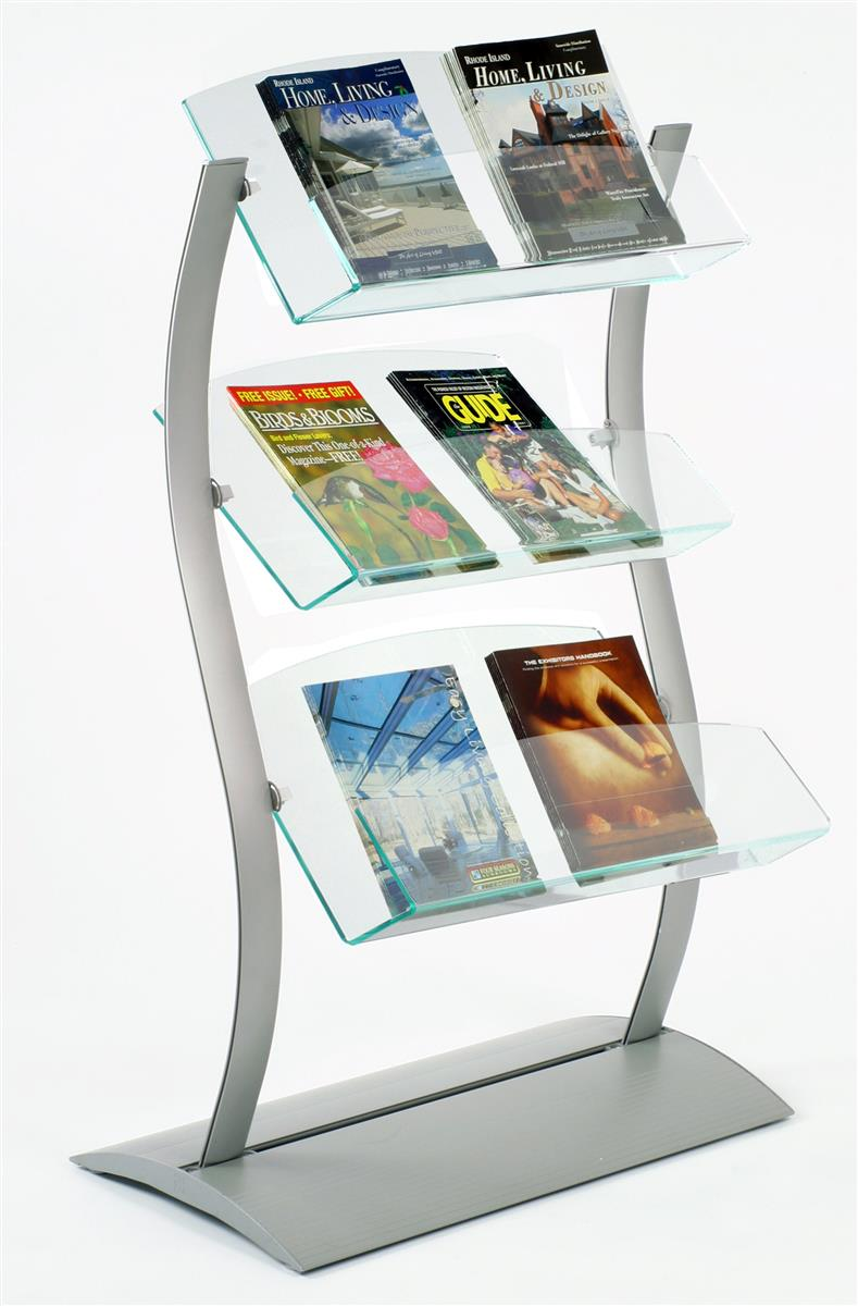 Catalog Stands Brochure Holders With Tiered Pockets