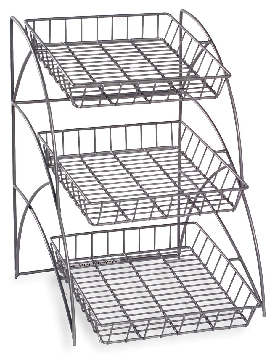 3  tray metal wire rack