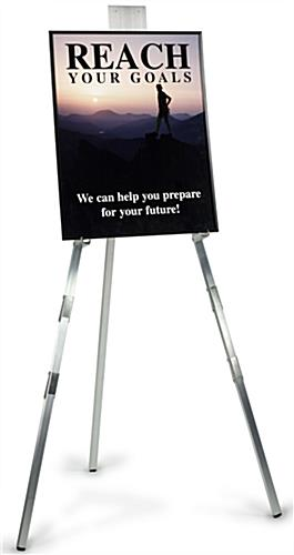 Display Easels Are 6 Ft. Tall With Satin Aluminum Finish